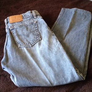Broken in and faded Levi's 560